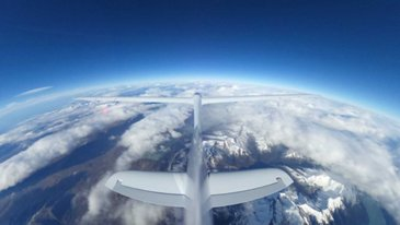 The Perlan Project - Perlan Tail Shot at 30000ft