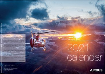 Civil helicopters calendar - 2021
