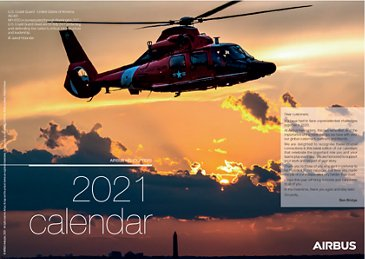 Military helicopters calendar - 2021