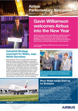 Airbus Parliamentary Newsletter - Winter 2017/2018