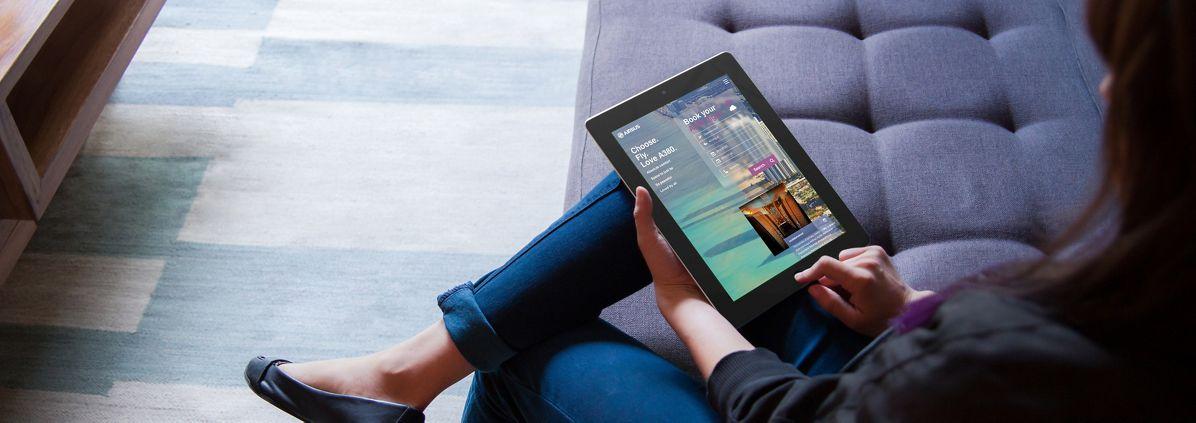 IflyA380 Homepage Tablet Mockup