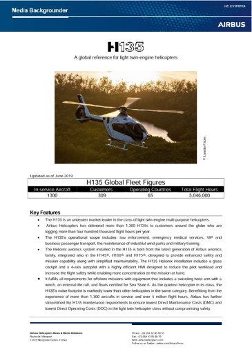 H135 Backgrounder June 2019
