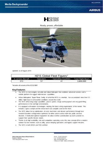 H215 Backgrounder