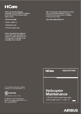 HCare Helicopter Maintenance H130 Standard Upgrades Commercial Tourism mission kit
