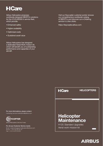Helicopter Maintenance H125 Standard Upgrades Aerial work mission kit