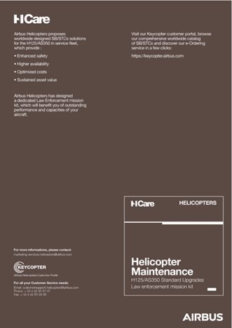 Helicopter Maintenance H125/AS350 Standard Upgrades Law enforcement mission kit