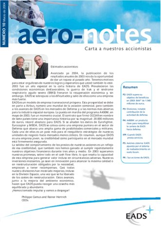 Aero-notes 10 (Marzo 2004)