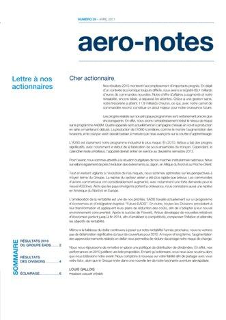 Aero-notes 29 (Avril 2011)