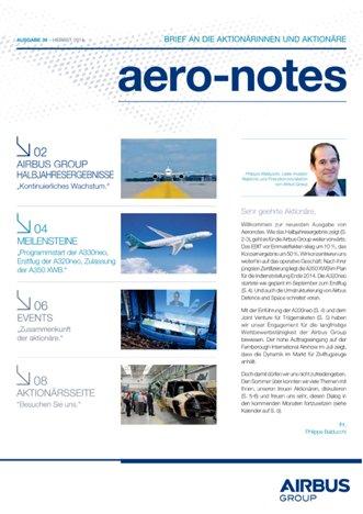 Aero-notes 39 (Herbst 2014)