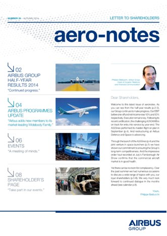 Aero-notes 39 (Autumn 2014)