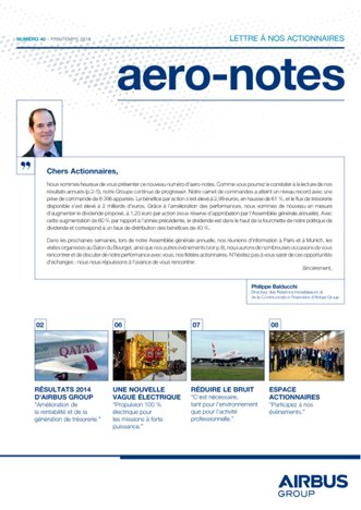 Aero-notes 40 (Printemps 2015)