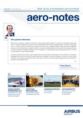 Aero-notes 40 (Frühling 2015)