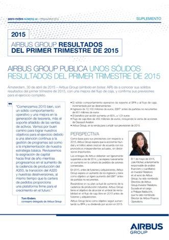 Aero-notes 40 (Resultados Q1 2015)