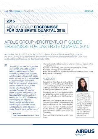 Aero-notes 40 (Q1 2015 Ergebnis)
