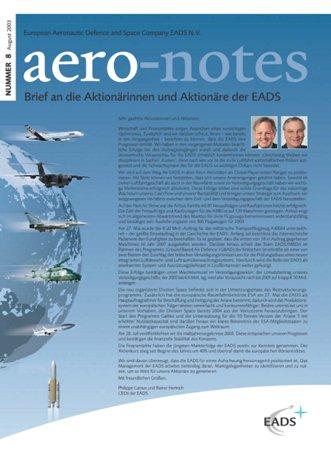 Aero-notes 08 (August 2003)
