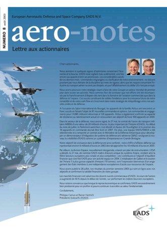 Aero-notes 08 (Août 2003)