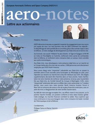 Aero-notes 09 (Décembre 2003)