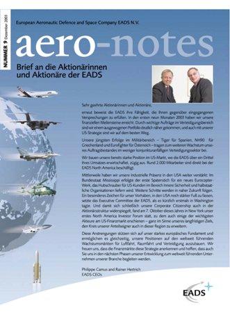 Aero-notes 09 (Dezember 2003)