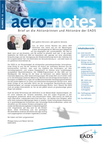 Aero-notes 10 (März 2004)