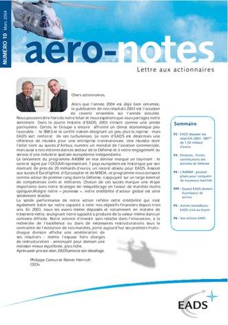 Aero-notes 10 (Mars 2004)