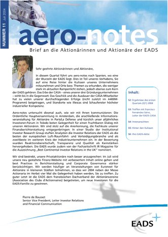Aero-notes 11 (Juli 2004)