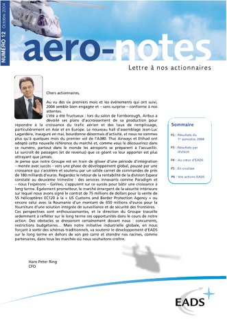 Aero-notes 12 (Octobre 2004)