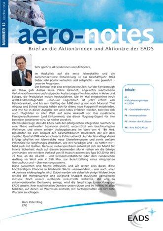 Aero-notes 12 (Oktober 2004)