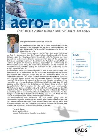 Aero-notes 13 (Februar 2005)