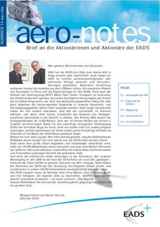 Aero-notes 14 (März 2005)
