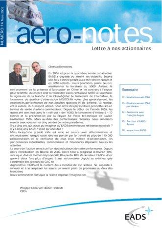 Aero-notes 14 (Mars 2005)