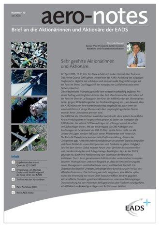 Aero-notes 15 (Juli 2005)