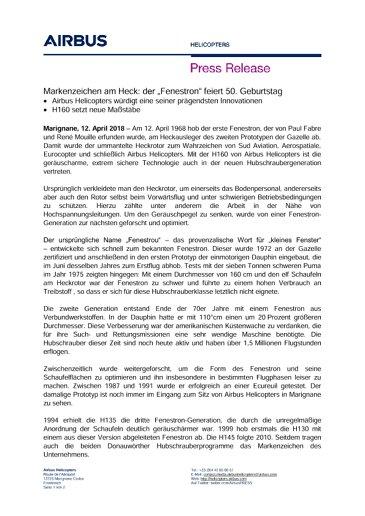 50th anniversary of the trademark Fenestron GE