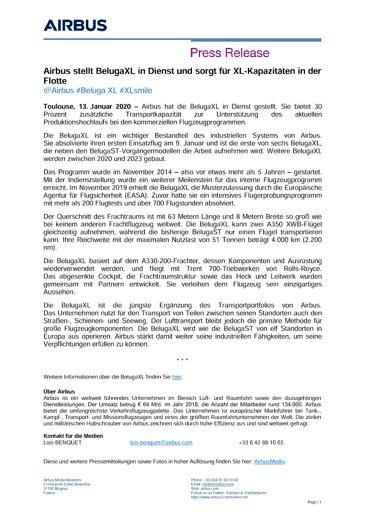 Airbus stellt BelugaXL in Dienst und sorgt für XL-Kapazitäten in der Flotte