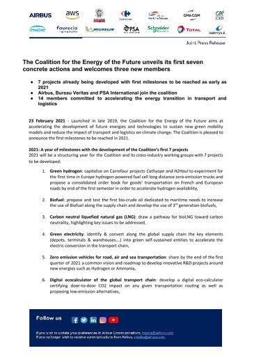 The Coalition for the Energy of the Future