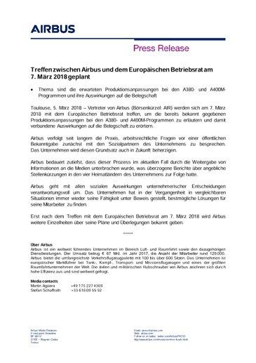 DE-Press-Release-A380-A400-Rate-Reductions-EWC-Meeting