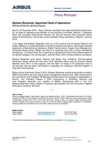 EN-Press Release: Barbara Bergmeier Appointed Head of Operations