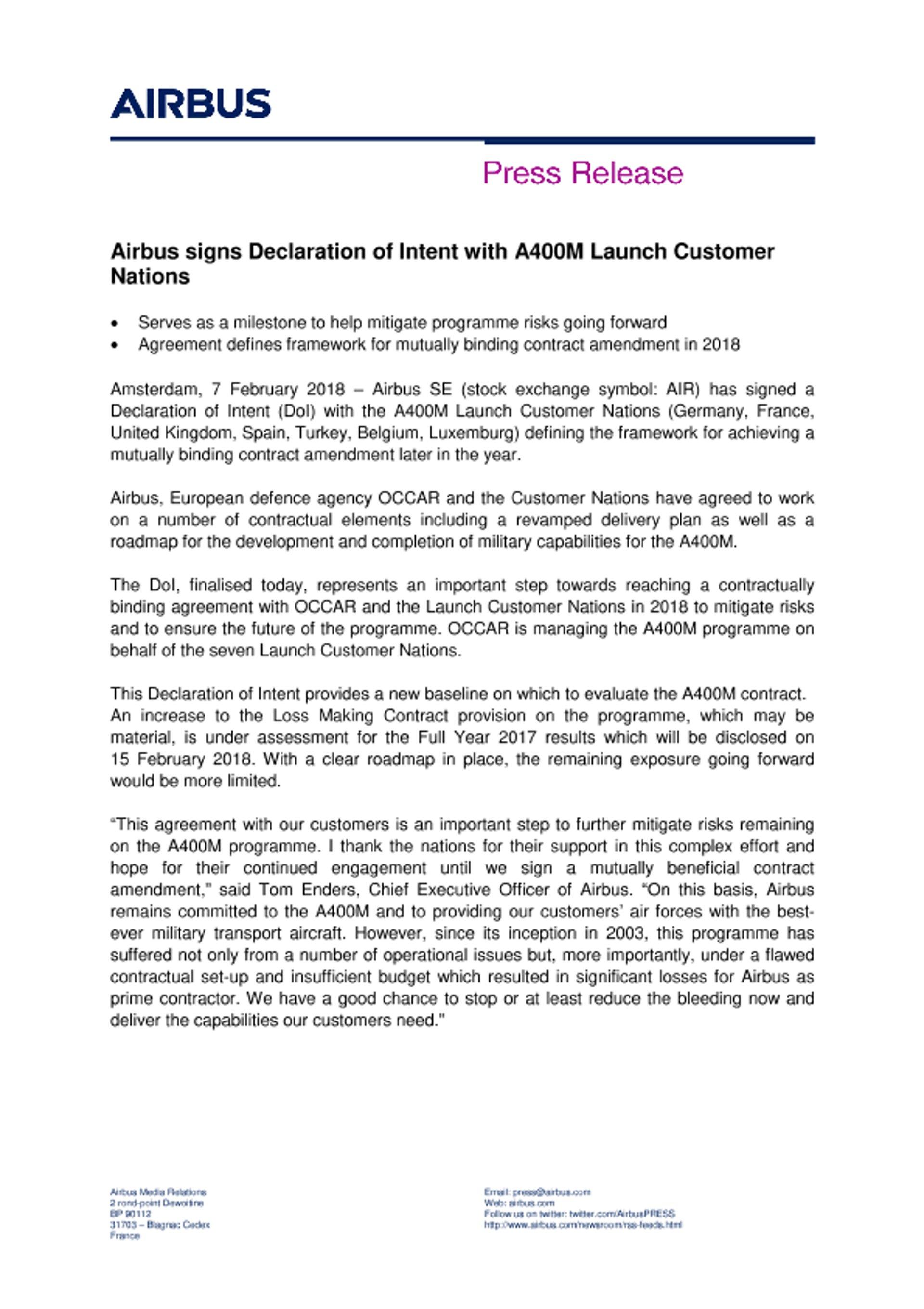 EN_Press Release - Airbus A400M DOI