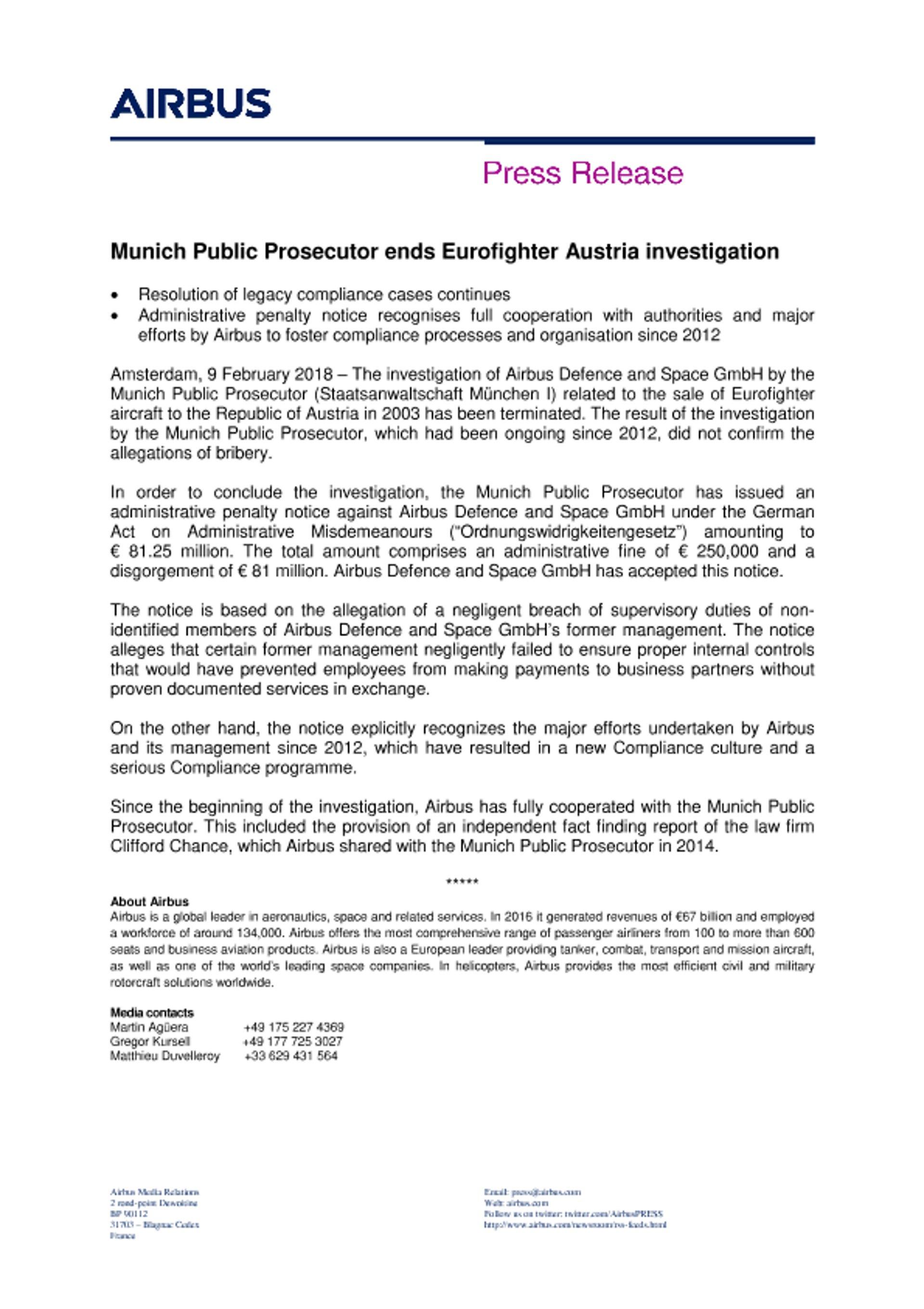 EN Press Release - Eurofighter Austria
