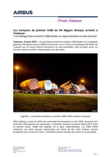 ANA A380 final assembly starts