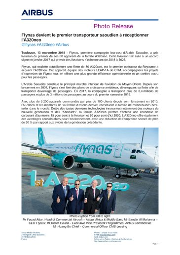 Flynas becomes first Saudi carrier to receive the A320neo