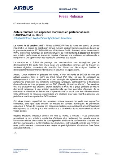 Airbus renforce ses capacités maritimes en partenariat avec HAROPA-Port du Havre