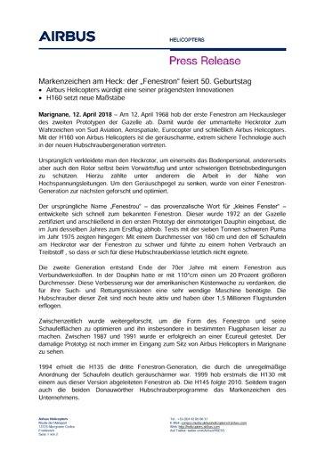 GE Der Fenestron feiert 50. Geburtstag