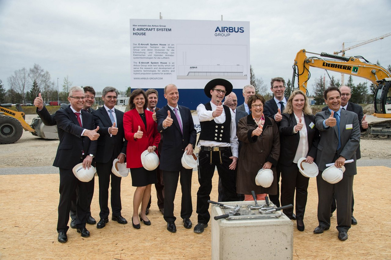 Ground-breaking ceremony for the E-Aircraft System House