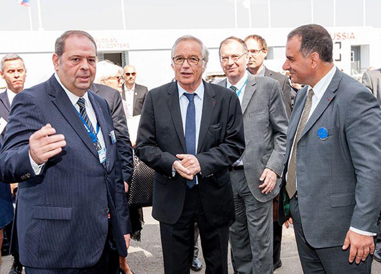 Paris Le Bourget air show 2015, French Labour Minister François Rebsamen Visits Airbus Group