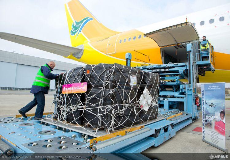 Airbus Foundation relief flight to Manila