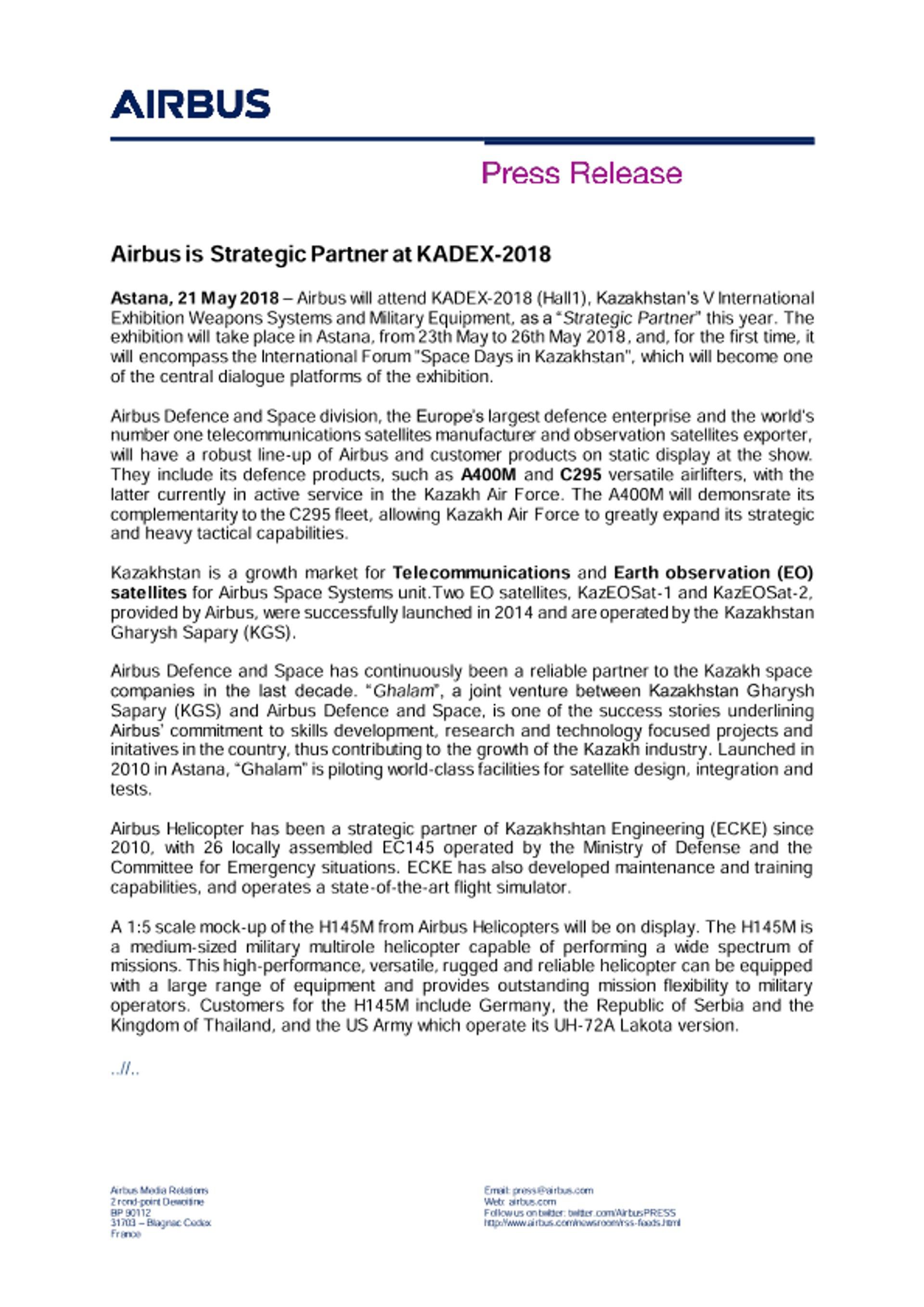 Press Release AIRBUS KADEX 21052018 ENG