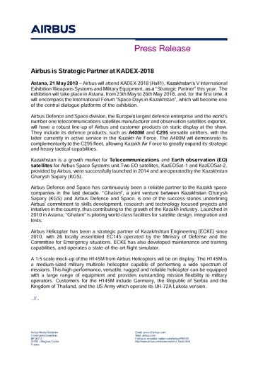 Press Release AIRBUS KADEX 21052018 ENG