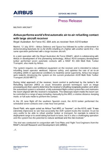 Press Release MILITARY AIRCRAFT 12072018 ENG