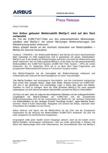 Press Release SPACE SYSTEMS 17042018-DE