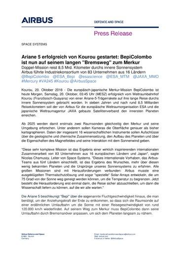 Press Release SPACE SYSTEMS 20102018-DE